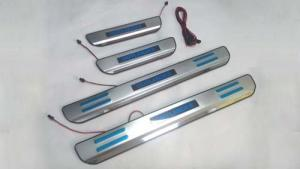 China Stainless Steel Door Sill Scuff Plates With LED Lights For Mitsubishi Outlander 2013 on sale