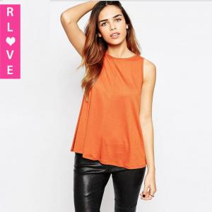 China 2016 spring new European and American minimalist vest Slim thin sleeveless T-shirt women on sale