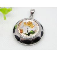 Coloured Glaze Semi Precious Stone Necklace Pendant 1240056