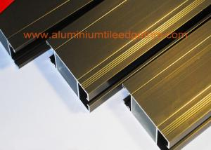 China Anti Corrosion Aluminium Door Profiles Extrusions Electrophoresis Champagne Color on sale