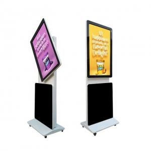 China Rotatable Screen Standalone Digital Signage Android IR Touch Advertising Totem With Remote Control on sale
