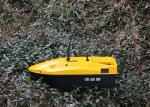 Yellow mini remote control Bait boat range 350m DEVC-113 AC110-240V