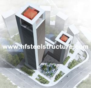 China Industrial Prefabricated Steel Frame Prefab Building, Multi-Storey Steel Building on sale