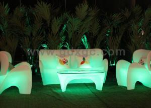 China Professional Custom LED Light Sofa RGB Outdoor Furniture AC110v-240v on sale
