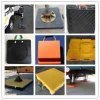 China uhmw pe plastic stabilizer pad for crane / rv utility blocks / pad for RV outriggers on sale