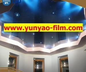 China PVC stretch ceiling film ceiling decoration Galaxy film on sale