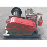 Smooth Electric Winch Machine With Spooling Drun Or Smooth Drum