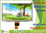 ZJ080NA 08A 8 Inch LVDS TFT LCD Display High Brightness ISO9001 Certification