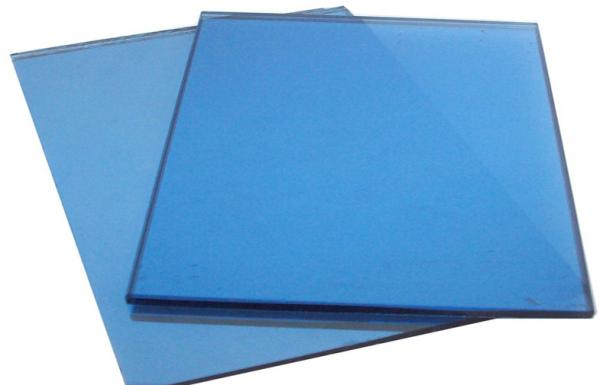 Ocean Blue Colored Glass Panels , 4mm - 25mm Stained Glass Sheet for ...