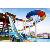 China Giant Aqua Park Equipment Exciting Swimming Pool Fiberglass Waterslides For Adults on sale
