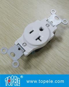 China Residential Grade Plastic Single Receptacle / Duplex GFCI Receptacles Wall Socket on sale