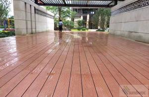 China Anti-slip outdoor wpc flooring decking wood plastic composite on sale