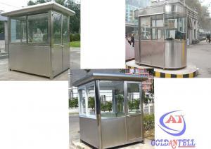 China 耐久のプレハブの保証歩哨箱の鉄骨構造サンドイッチ パネル・ドア on sale