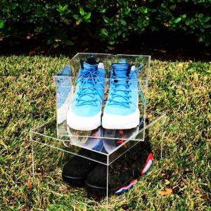 China Professional Clear Acrylic Box Acrylic Shoes Display Box Customized Thickness on sale