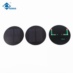 China PET Laminated 2W Mini Solar Panels Round Shape With High Conversion Rate on sale