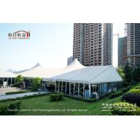 500 People Outdoor High Peak Tents With Hard Glass Wall for Auto Show