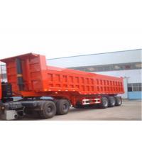Cargo Box Three Axle Dump Semi Trailer Hydraulic Cylinder Farm Trailer