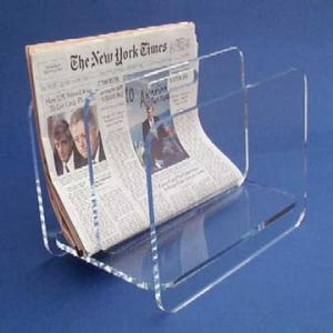 China Countertop Clear Acrylic Brochure Holders / Custom Lucite Magazine Holder on sale