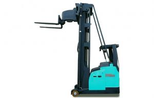 China 1.3 ton -1.5 ton electric narrow aisle truck, electric forklift truck FBT15-MJZE on sale