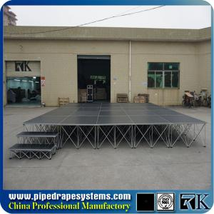 China RK mobile folding plywood stage platform with aluminum folding riser on sale
