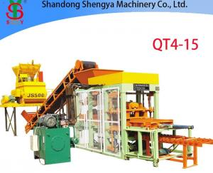 China QT4-15 Automatic hydraulic cement brick making machine, block production plant on sale