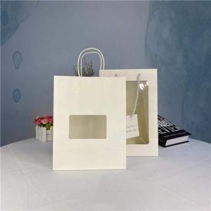 China Eco Friendly PVC Custom Printed Paper Bags For Place Bread on sale