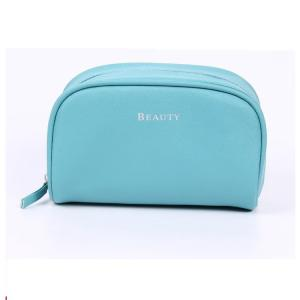 China Small Durable PU Leather Plain Travel Cosmetic Bags OEM 16*9*5 cm on sale