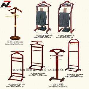 Mobile Men Valet Stands with Four Casters Clothes Valet Stand for