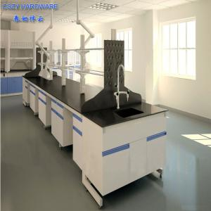 China School laboratory furniture table, steel and wood central lab bench with high quality good price on sale