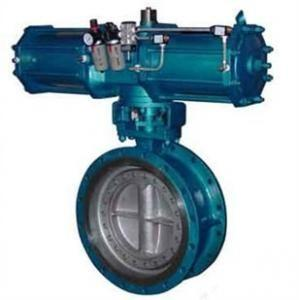 China Pneumatic Metal Seat Butterfly Valves DN300 PN10 For Industrial Waste Water,WCB,CAST STEEL on sale