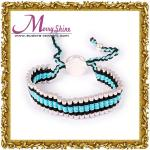 装飾LS025のための2012新式の青および黒いリンク友情のブレスレットの宝石類