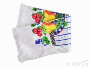 China Customized Colorful Kitchen Tea Towels / Luxury Tea Towels Low Cadmium on sale