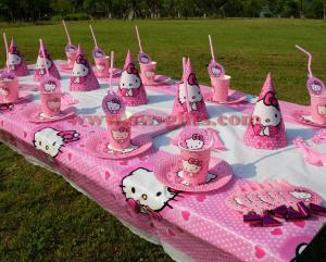 Quality Hello Kitty Cat Theme Kids Birthday Party Decoration Set Supplies Baby For Sale