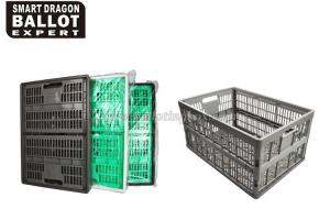 China PP Material Plastic Storage Box Large Foldable Basket Color Customization on sale