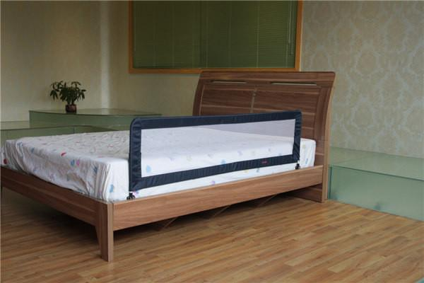 Black Safety Slat Bed Guard Rails With Non Corner Convertible Crib Images