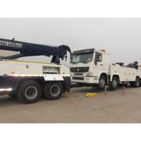 Double Rear Axles Wrecker Tow Truck , Towing 16 Ton 6 x 4 Drving