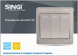 China El interruptor británico caliente de la pared del estilo de GNW56BK China, interruptor táctil llevó iluminado on sale