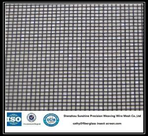 China Black / Gray Fireproof Fiberglass Window Screen Insect Proof Mesh 18x16 on sale