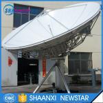 6.2m RxTx c band manual or motorized earth station satellite communication antenna