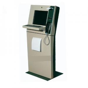 China Restaurant Reservation Kiosk with ID card reader/Barcode reader and Receipt Printer on sale
