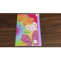 Art Paper Music Greeting Christmas Card Sticker With 2 Sides Printed