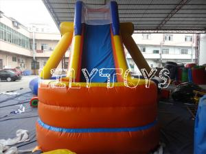 China Custom Large Inflatable Water Slide Obstacle Course For Residential Kids Pool on sale