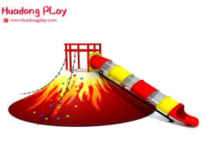 China Volcano Slide Indoor Playground Equipment  , Food Grade Indoor Playground Furniture Plastic Nontoxic on sale