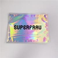 Laser Holographic Film Grip Seal Bags Zip Lock Customized Logo For Cosmetics