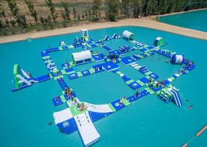 China Open Water Inflatable Aqutic Sports Park With 0.9mm PVC Tarpaulin on sale