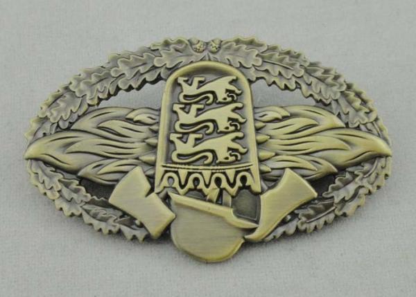 Soft Enamel Die Cast Medals , 4 0mm Custom University Gold