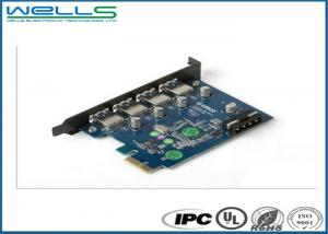 China Lead Free Customized PCB Assembly Blue Solder Mask FR-4 Base Material on sale