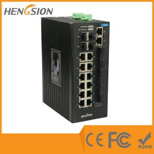 China Gigabit 28 Port Switch 14 100 Base TX + 4 100 Base FX + 4 * 1000 Base SFP Fiber Optic Switch on sale