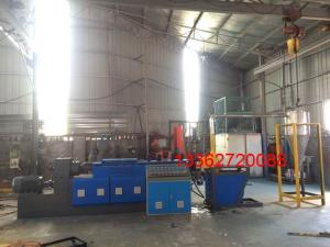 China Polystyrene / Polypropylene Waste Plastic Recycling Machine Two Screw Extruder on sale