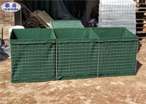 China Green HDP Galvanized Military Hesco Barriers for Temporary Fortifications on sale